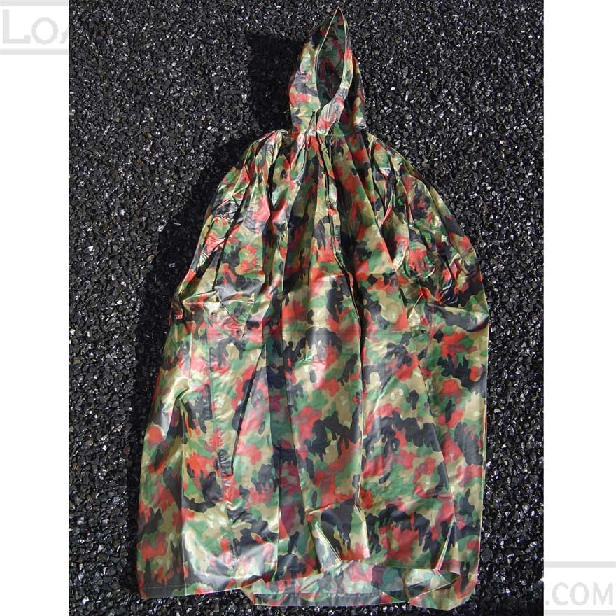 Swiss Military Alpenflage Camo Rain Poncho