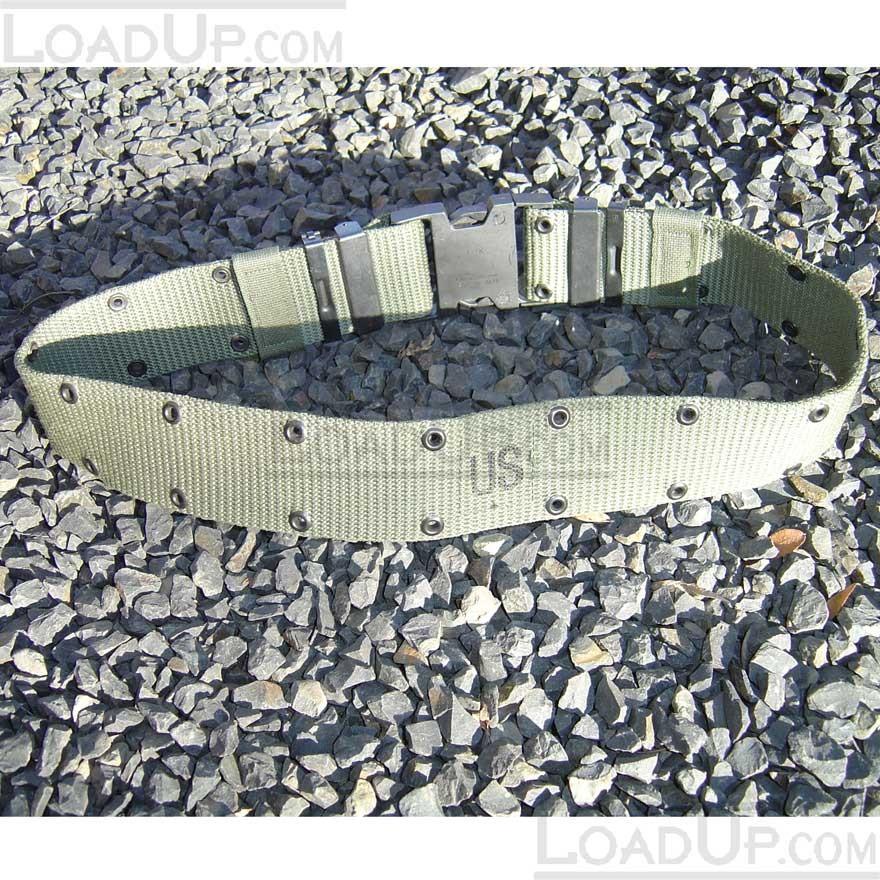 US Military Web Pistol Belt OD LC2