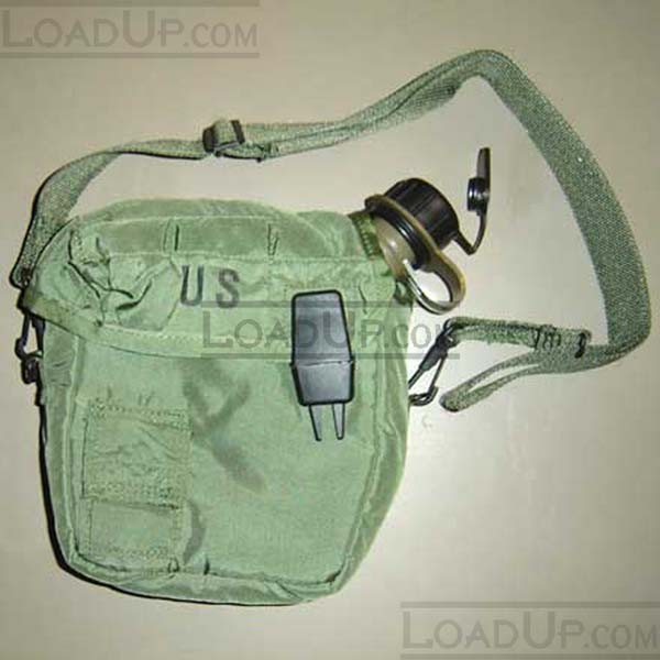 US GI Two Quart Bladder Canteen and Cover - Olive M1