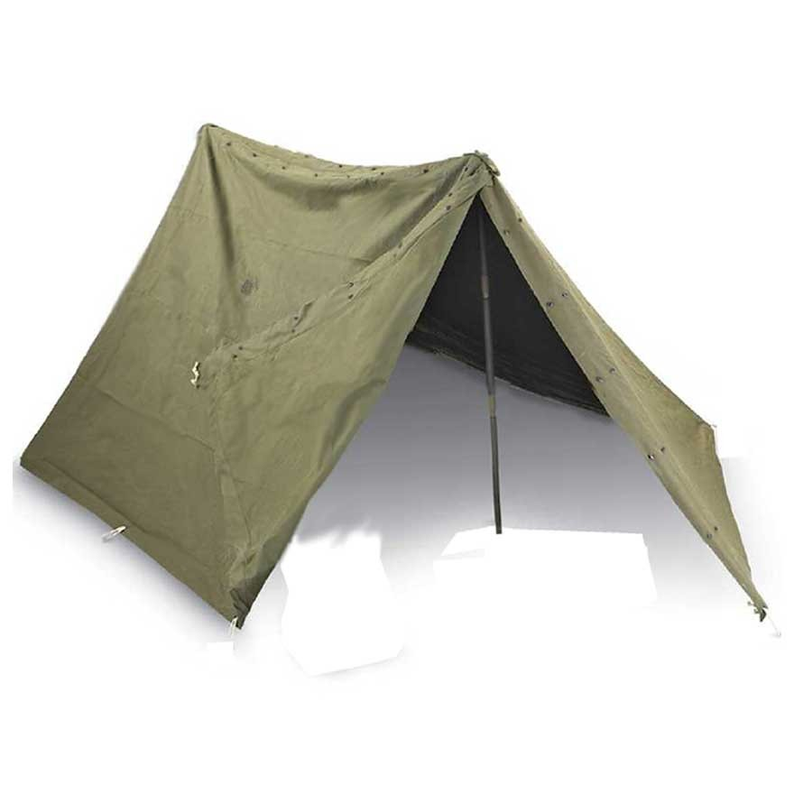 US Military Pup Tent Complete  w/poles, Ropes and Stakes