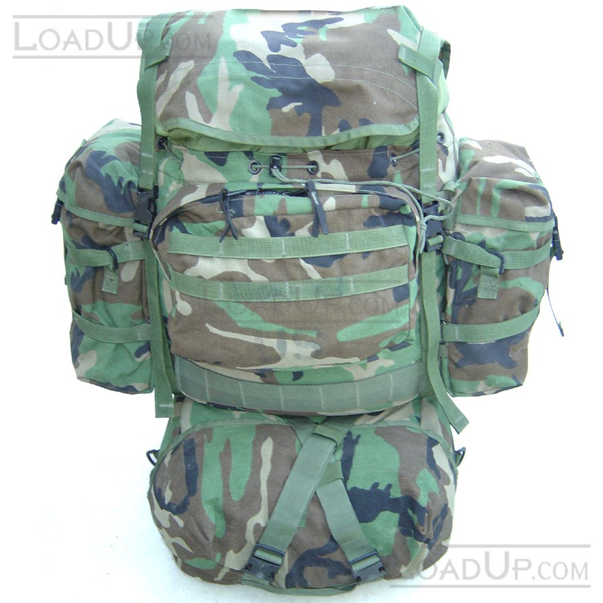 US Military MOLLE II Rifleman Backpack set (4 bag) Woodland Camo