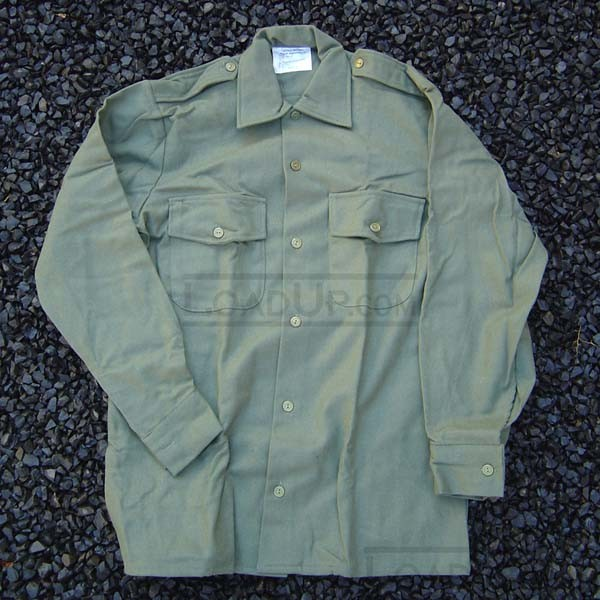 New British Military Wool Shirt Olive