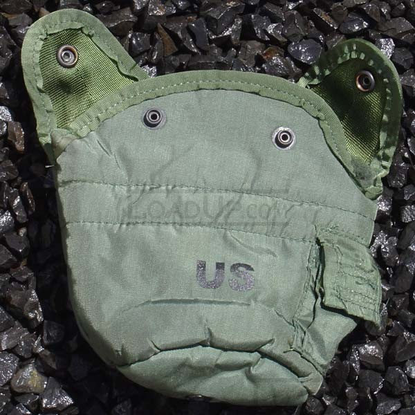 US 1-Qt Canteen Pouch/Cover and Alice Clips Very Good