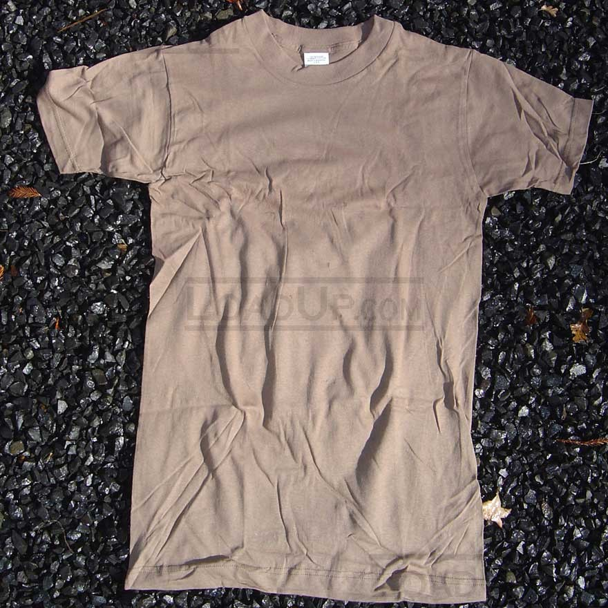 Army Issue Brown T-Shirt Small