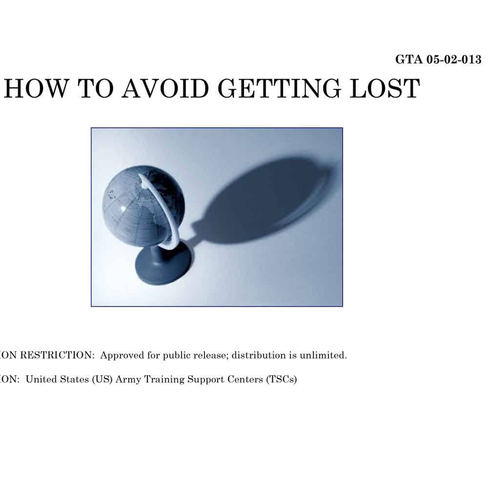 GTA 05-02-013 How to Avoid Getting Lost Manual