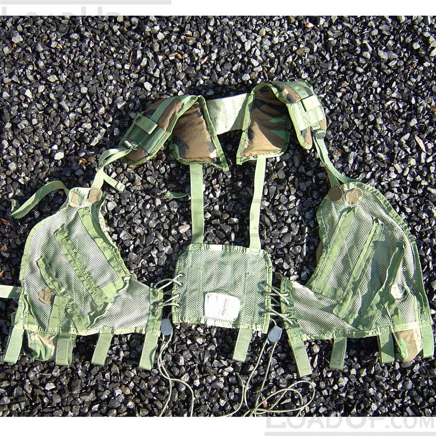 US GI Issue Tactical Load Bearing Vest LBV Woodland Camo
