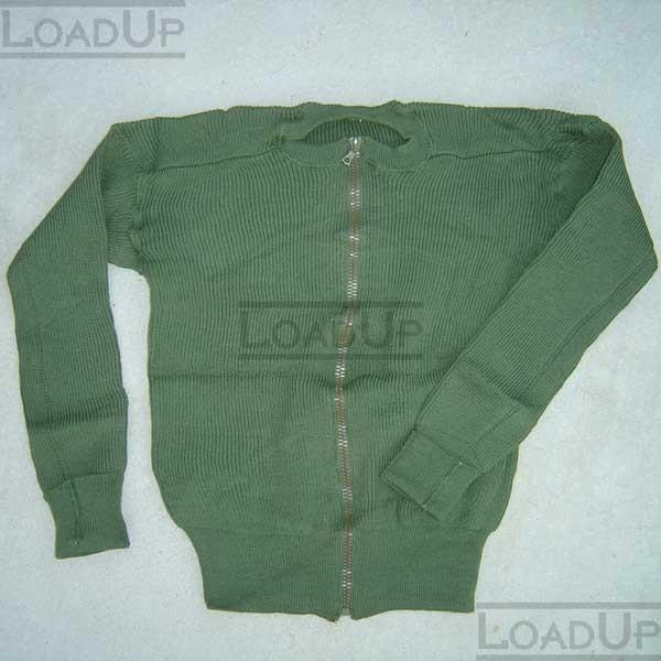 Wool Swedish Military Sweater Fingerless Mitten Olive New