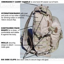 US GI Molle II 3 Day Assault DCU Backpack