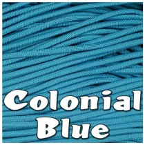 Colonial Blue 550 PARACORD USA Military 7 Strand Type III