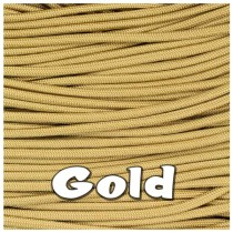 GOLD 550 PARACORD USA Military 7 Strand Type III