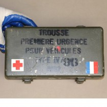 French First Aid Carry Box-Steel Water Resistant Seal