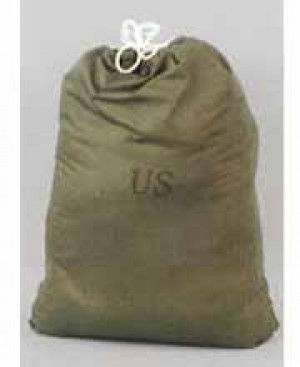 US Mil. Cotton Laundry Bag with Cinch
