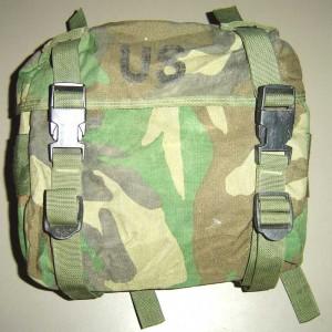 Woodland Camouflage US GI Enhanced Nylon Butt Pack