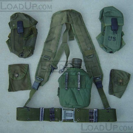 LC-1 LBE Harness with Canteen 5 Pouches and Belt